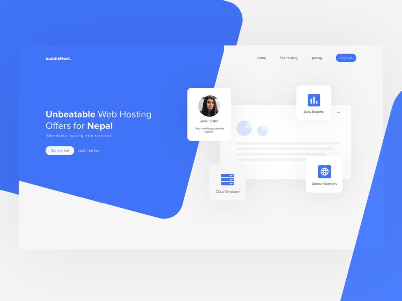 Web Hosting Site Design clean flat askbuddie ui web typography minimal design