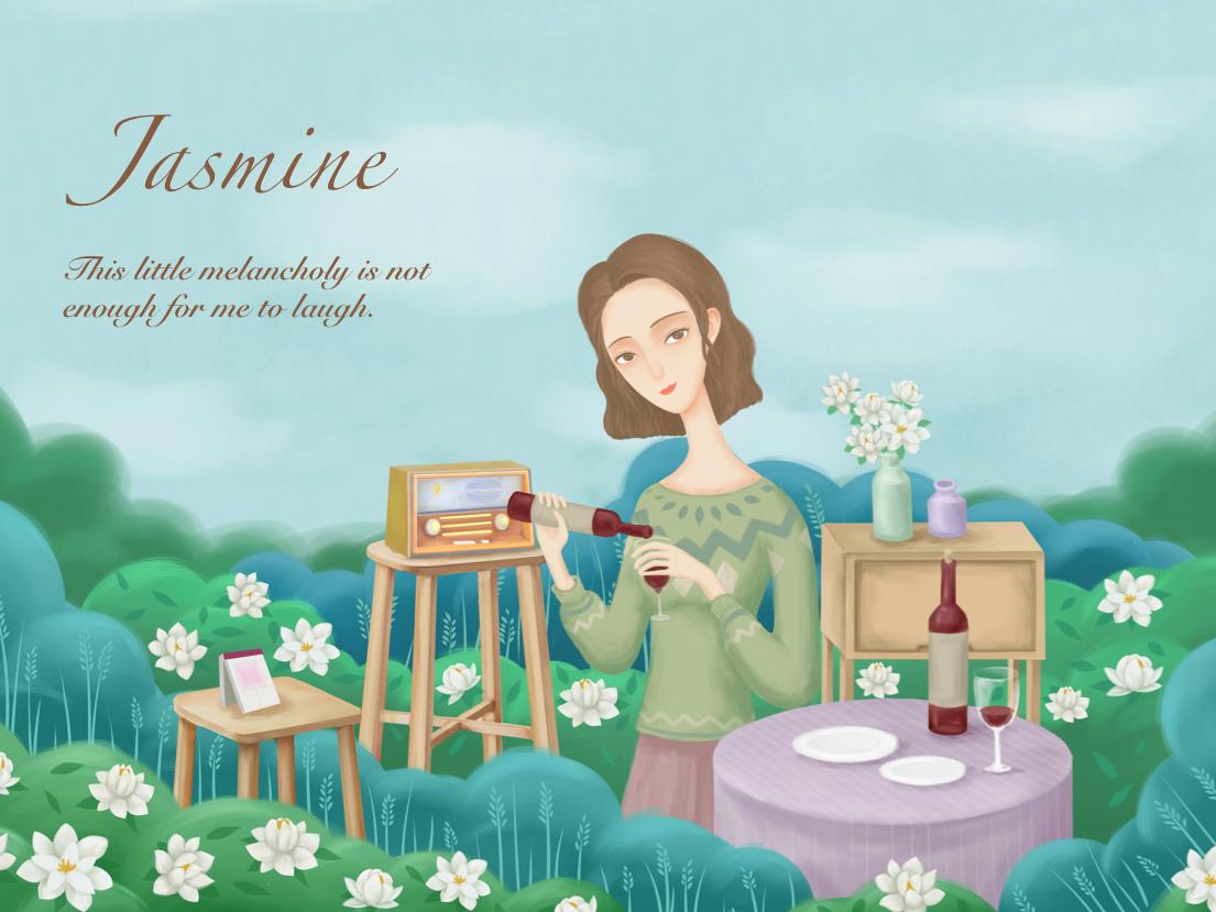 Miss Yan illustration 插图