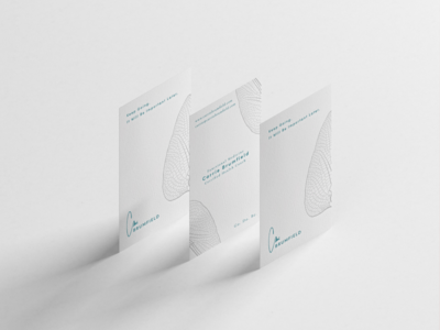Carrie Brumfield Business Cards Design branding visual design business card