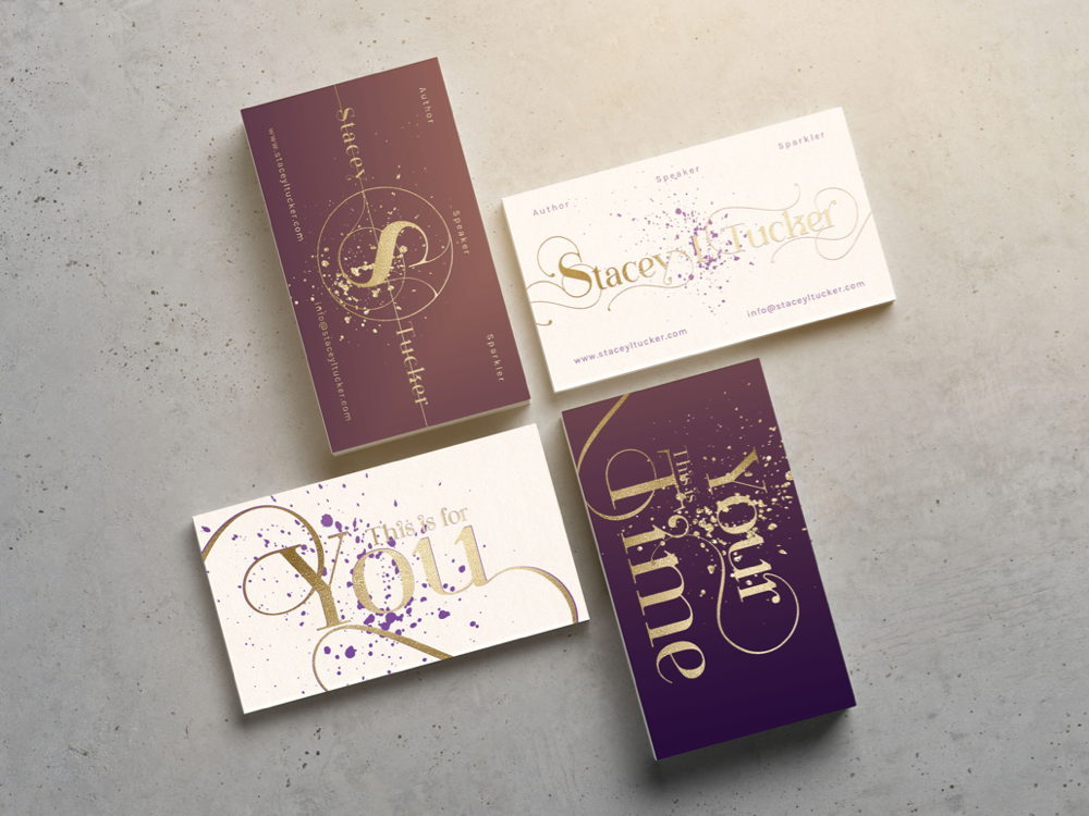 Stacey Tucker Business Cards branding graphic design visual design logo design