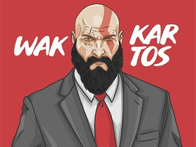Wak Kratos Beard Vector Illustration
