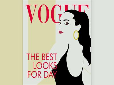 Vogue Cover Illustration vogue illustrator dribbble design draw sketch flat vector illustration
