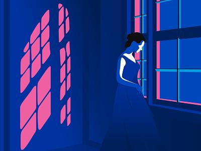 Midnight Will blue dribbble design sketch flat illustrator draw vector illustration