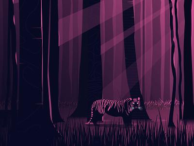 I Am The Tiger tiger design dribbble sketch flat illustrator draw vector illustration