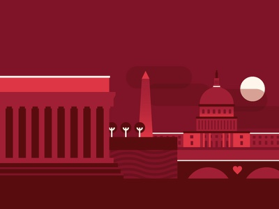 Valentine's Day for OpenTable opentable illustration valentines day washington dc hearts geometry design vector