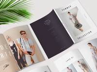 Summer Lookbook Collection / Fashion Magazine catalog design catalog photography showcase fashion catalogue brochure typography graphic art design graphicdesign template graphictemplate brochuretemplate illustrator adobeillustrator fashionmagazine lookbook