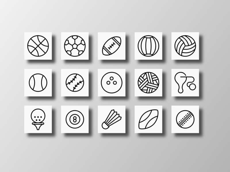 Sports Balls (Outline)
