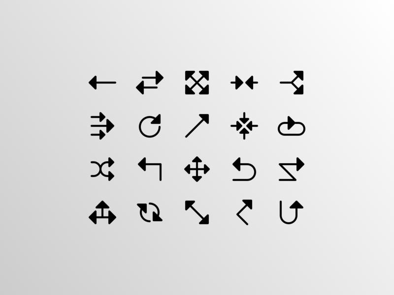 Directional Arrows 03 (Glyph)