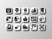 E-Commerce 02 (Glyph) adobe ilustrator online store shopping shop branding illustrations illustrative ui design uiux ux ui app logo illustration pictogram icon bundle icon set vector icon design