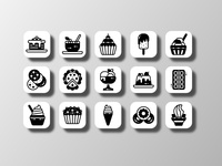 Dessert Icons (Glyph) figma affinitydesigner illustration dessert ice cream cake restaurant food food and drink iconography app ui doodle creative icon bundle iconfinder icon set vector icon design