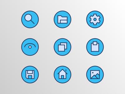 Basic UI Badge (Filled Outline)
