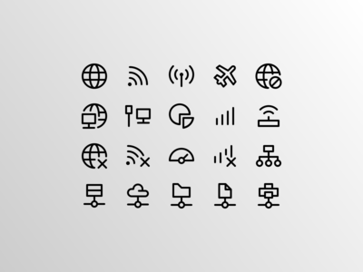 Network Element (Outline Icons)