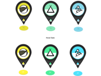 GPS Icons... Added marker and hover...