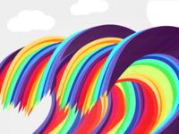Rainbow Wave Vector Illustration