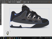 Osiris Shoes D3 vector