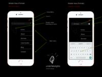 Mobile (Portrait) menu and invoked search