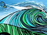 Underfakelights Surf Art