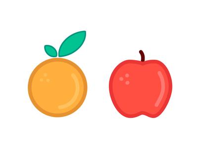 Apple & orange illustration