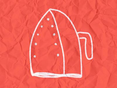 Ironic doodle illustraion kinks paper crumpled wrinkles wrinkle clothes ironing funny ironic irony iron