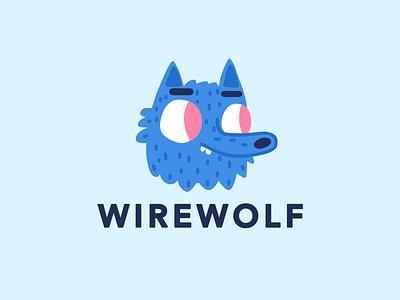 Wirewolf Mascot monster illustration logotype werewolf mascot branding