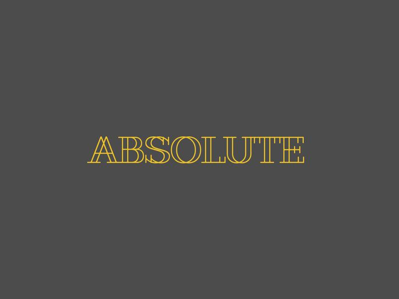 Logo 'Absolute' logotype art logodesign vector illustration logo design figmadesign branding