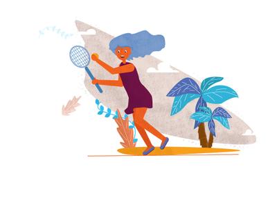 Игра в теннис на островах