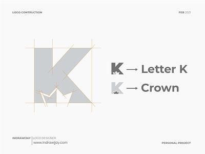 K + Crown Logo Design minimalism minimalist simple k letter k king crown brand brand design brand identity branding design design logo design logodesigner logodesign logomark logos mark symbbol logo