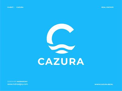 CAZURA LOGO minimalist clean simple home homes real estate indrawijay brand design brand identity branding design logo design logo designer logodesign logomark logos logo mark symbol