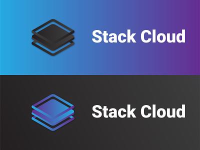 Stack Cloud startup cloud stack illustration vector minimalist branding future logo
