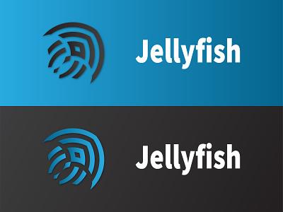 Jellyfish app startup vector cloud branding typography icon minimalist future spongebob jellyfish