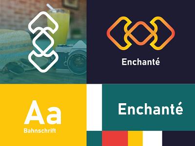Enchante food startup design icon future minimalist logo design logo
