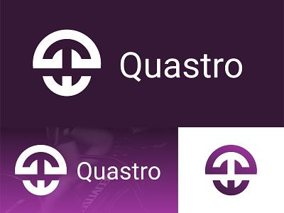"Anchor Logo ""Quastro"" illustration icon logos logo design logo branding typography startup future minimalist"