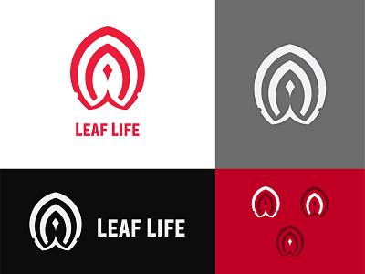 Leaf Life! illustration logo design logo pink red logo inspiration leaf sakura