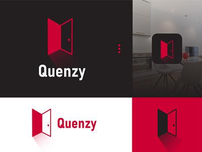Quenzy Logo! Apps Reservation door future illustration logo design motion graphics graphic design branding logo