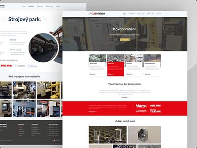 Business metalworking design clean ui ui design webdesign uxdesign metal working web design web graphic design design template ux design