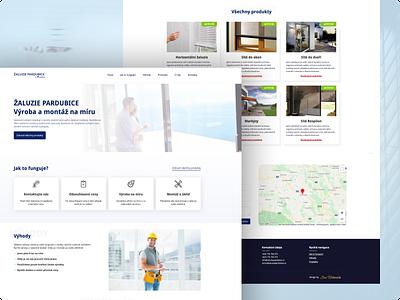 Webdesign company blinds landing page ui webdesign web design ux design web site graphics ux ui design graphic design design
