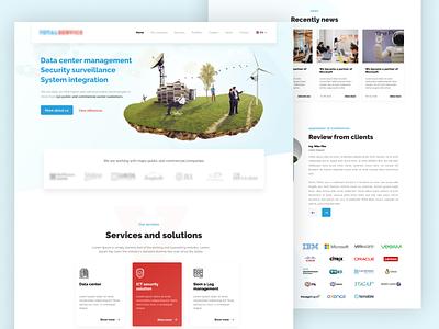 Data solution – Web design, Landing Page webdesign ux design graphics web design web ux design template ui design graphic design design