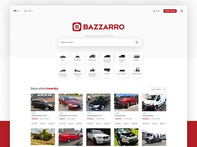 Bazzarro – Buy & sell vehicles - Web Design ui webdesign web design graphics ux design ux design template ui design graphic design design