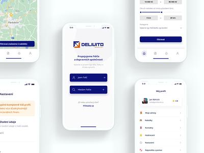 Delivito – Mobile App design for carriers digital ui graphic design design app application mobile app design mobile design app design carriers app ux design ui design ux design