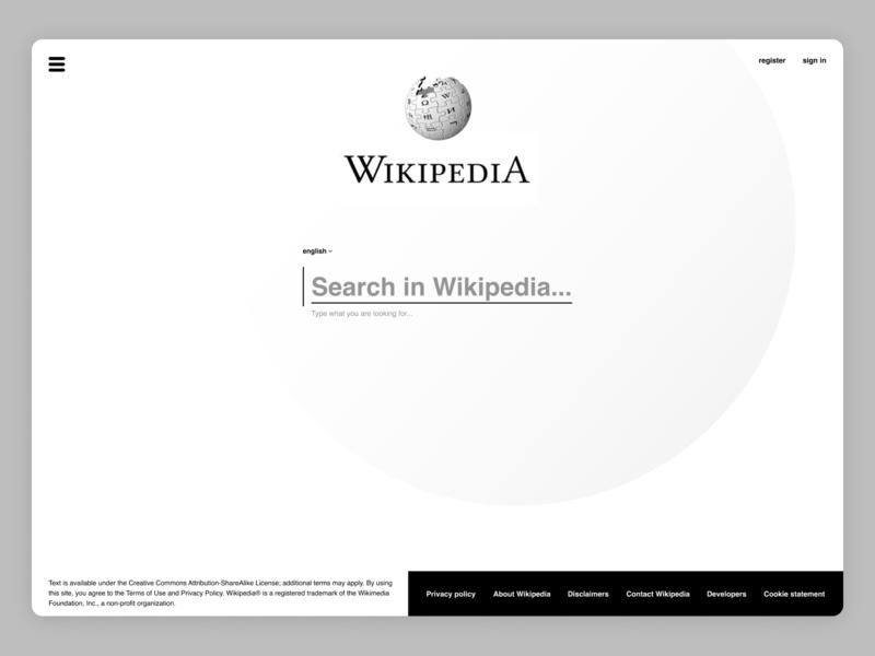 Wiki – design typography branding digital wikipedia concept webdeisgn web graphic design ux  ui ux design ui design design template ui ux design