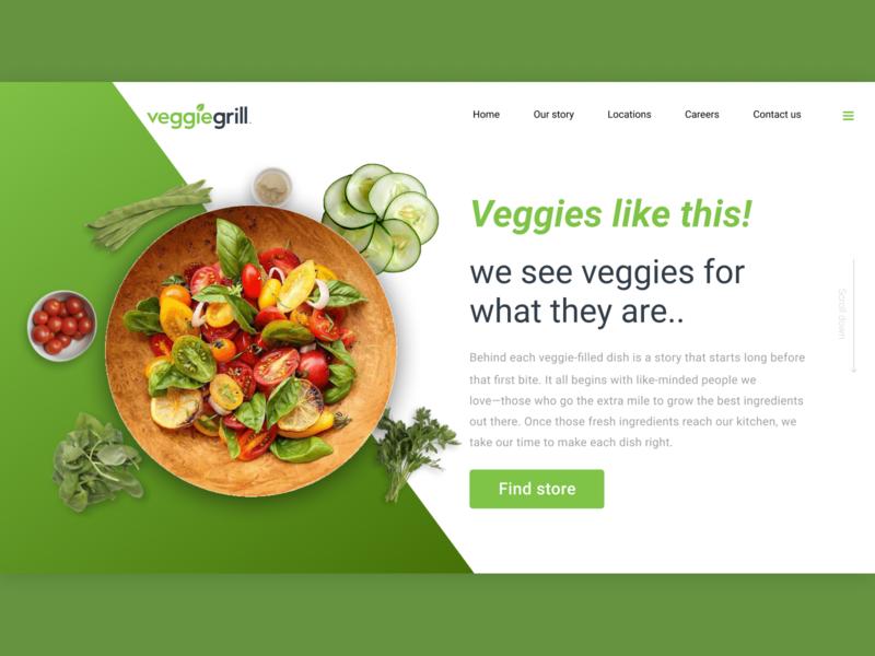 Veggie design veggie graphics web web design template design digital ui  ux ui design graphic design design template concept ux design