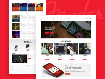 Fender  Web design