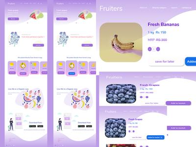 Fruiters website-UI design