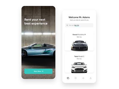 Rent a Car App rent a car rental car rental app renting rental rent app design mobile ui design dailyui ux ui app