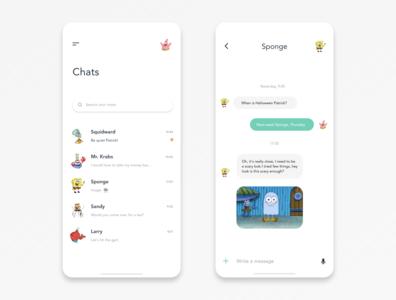 Mobile Direct Messaging App Design