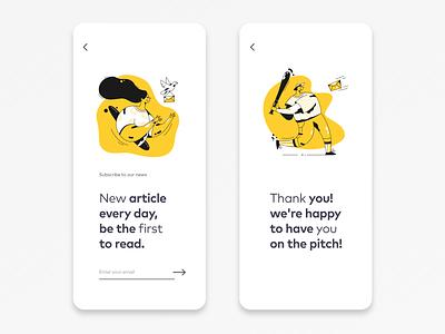 Mobile Subscribe to Newsletter Design subscription mobile ui app ux ui design