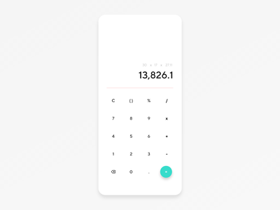 Mobile Calculator Design mobile ui design ui ux app ui app design dailyui 004 dailyui calculator app