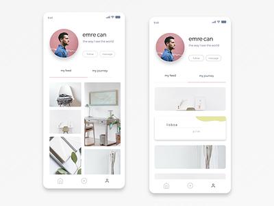 Mobile User Profile Design dailyui 006 dailyui006 user profile ux ui app design mobile ui design dailyui app