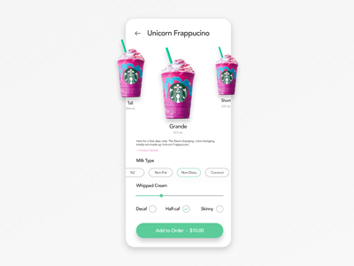Mobile Settings Screen Design starbucks dailyui007 dailyui 007 app design mobile ui design dailyui ux ui app