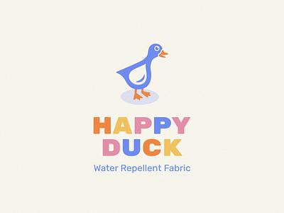 Happy Duck logo design happy water duck logo duck branding